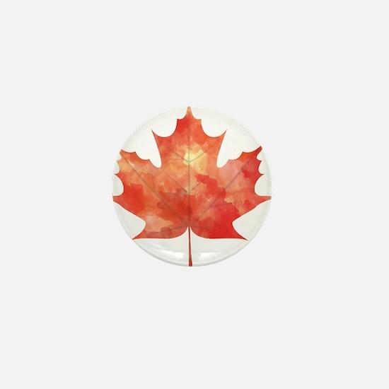 Maple Leaf Art Mini Button