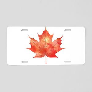 Maple Leaf Art Aluminum License Plate