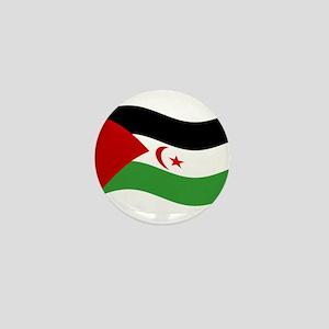 Waving Western Sahara Flag Mini Button
