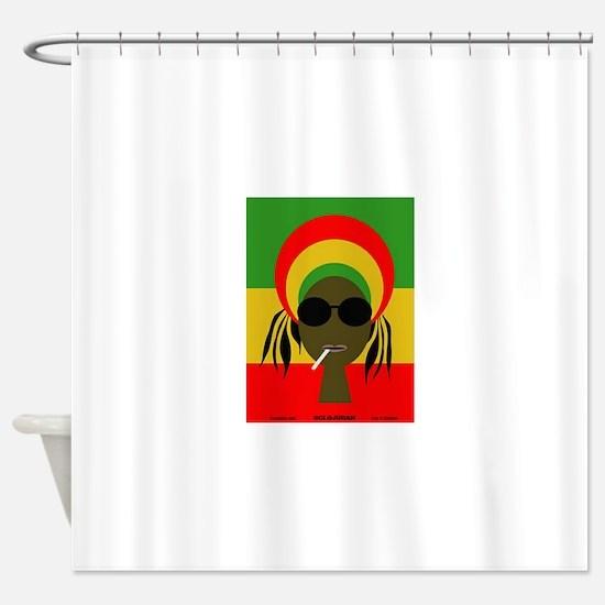 Rasta Queen Shower Curtain