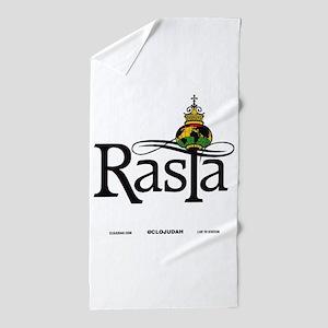 Rasta Globe Beach Towel