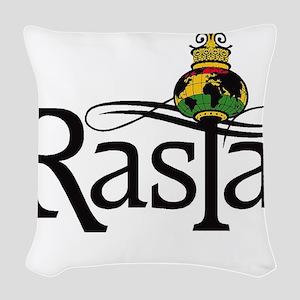 Rasta Globe Woven Throw Pillow