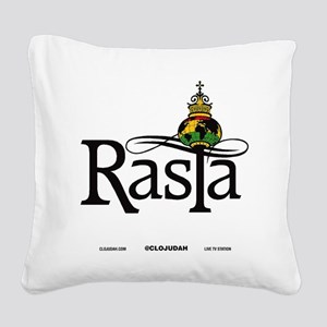 Rasta Globe Square Canvas Pillow