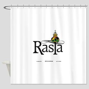 Rasta Globe Shower Curtain