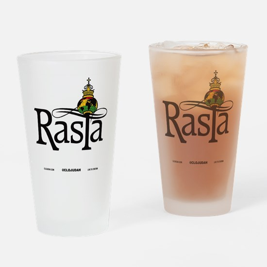 Rasta Globe Drinking Glass