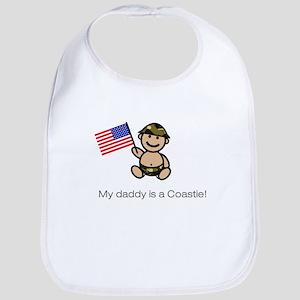 """""""My daddy is a Coastie."""" Bib (classic)"""