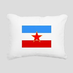 Yugoslavia Flag Rectangular Canvas Pillow