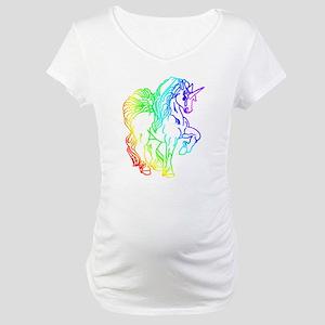 Rainbow Unicorn Maternity T-Shirt