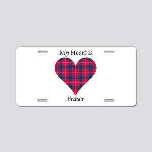 Heart - Fraser Aluminum License Plate