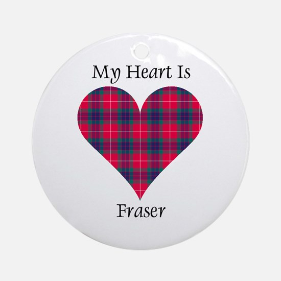 Heart - Fraser Ornament (Round)