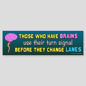 Brain Lane (sticker) Bumper Sticker