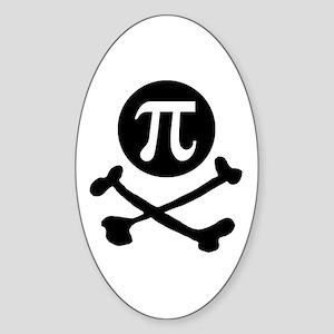 Pi-rate Oval Sticker