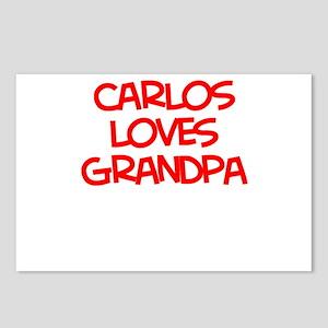 Carlos Loves Grandpa Postcards (Package of 8)
