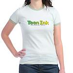 Green-Yellow Teen Ink Women's Ringer T-Shirt