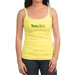 Green-Yellow Teen Ink Spaghetti Tank Top