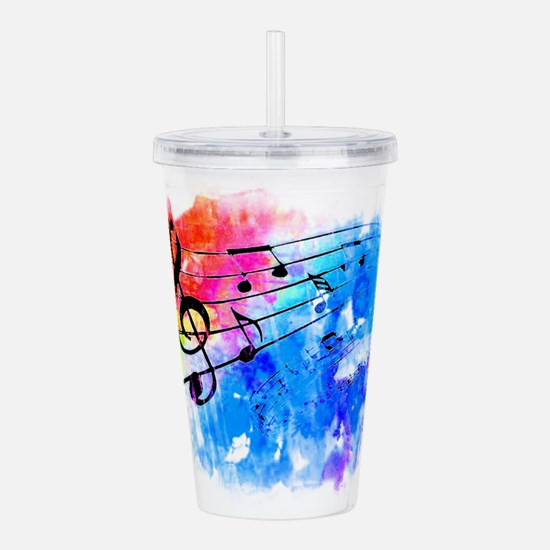 Colorful music Acrylic Double-wall Tumbler
