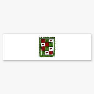 Christmas Quilt Bumper Sticker