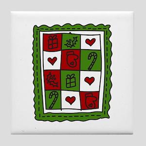 Christmas Quilt Tile Coaster
