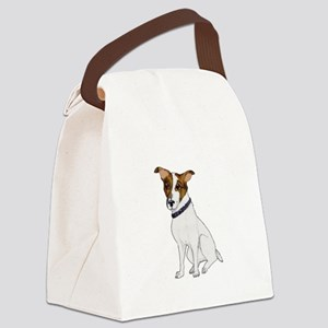 Jack Russell Terrier Oil Canvas Lunch Bag