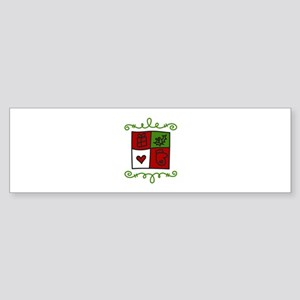 Quilt Square Bumper Sticker