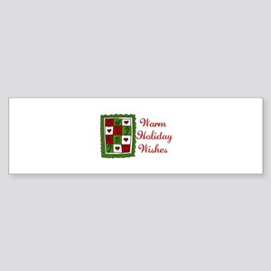 Warm Holiday Wishes Bumper Sticker
