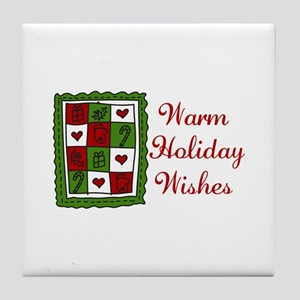 Warm Holiday Wishes Tile Coaster