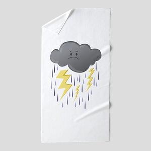 Thunder Storm Beach Towel