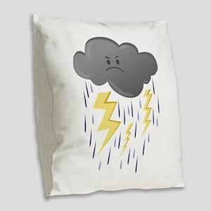 Thunder Storm Burlap Throw Pillow