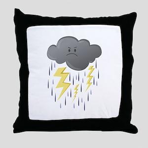 Thunder Storm Throw Pillow