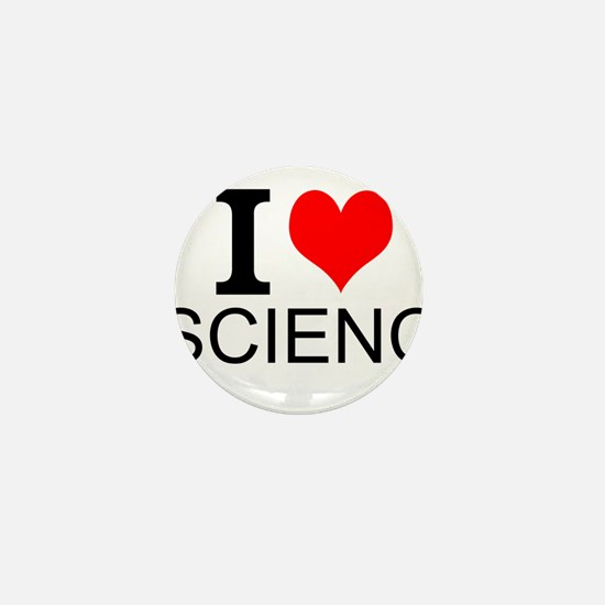 I Love Science Mini Button