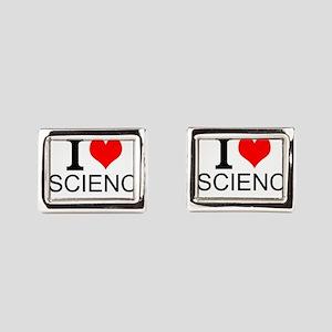 I Love Science Rectangular Cufflinks