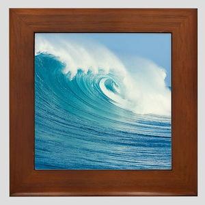 Blue Wave Framed Tile