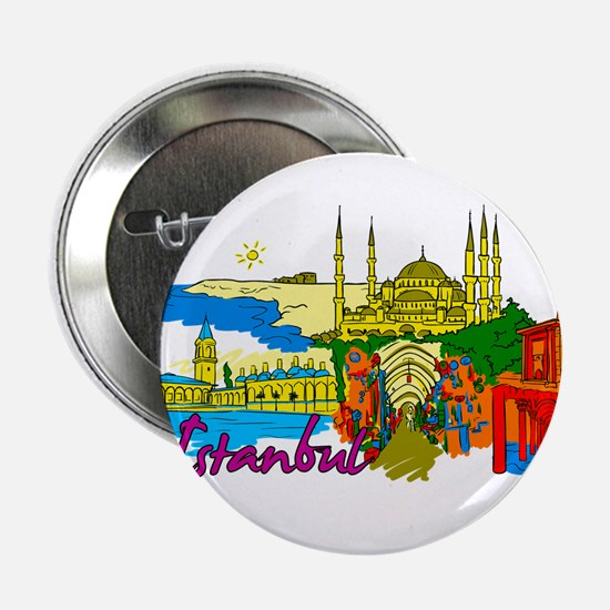 """Istanbul - Turkey 2.25"""" Button (10 pack)"""