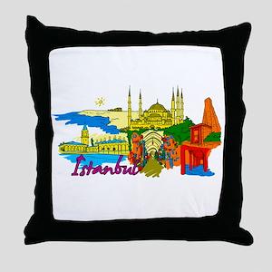Istanbul - Turkey Throw Pillow