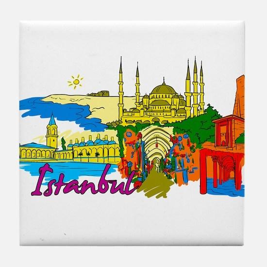 Istanbul - Turkey Tile Coaster