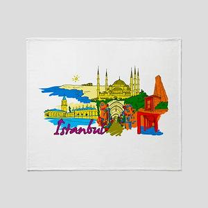 Istanbul - Turkey Throw Blanket
