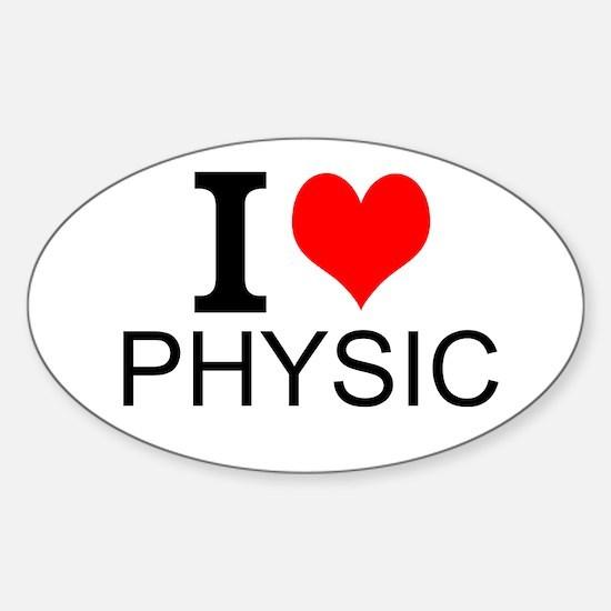 I Love Physics Decal