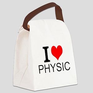 I Love Physics Canvas Lunch Bag