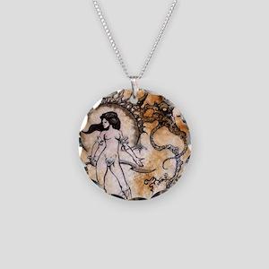 Black Sun Sorceress Necklace Circle Charm