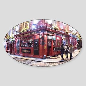 Temple Bar Dublin, Ireland Sticker (Oval)
