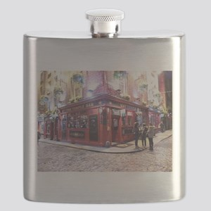 Temple Bar Dublin, Ireland Flask