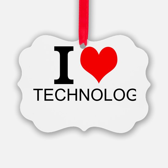 I Love Technology Ornament
