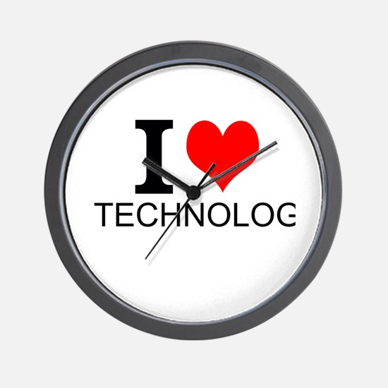 I Love Technology Wall Clock