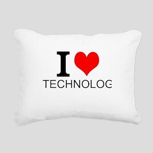 I Love Technology Rectangular Canvas Pillow
