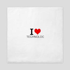 I Love Technology Queen Duvet