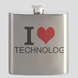 I Love Technology Flask
