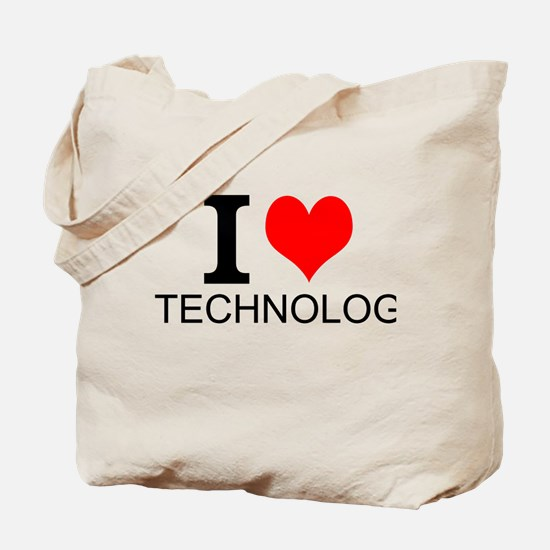 I Love Technology Tote Bag
