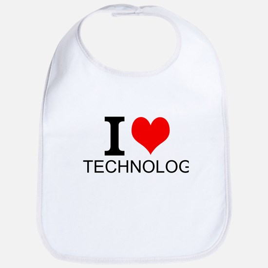 I Love Technology Bib