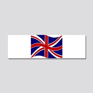 Waving Union Jack Flag Car Magnet 10 x 3