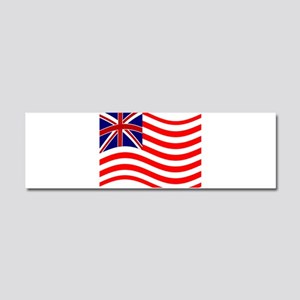 Waving Union Jack Stripe Flag Car Magnet 10 x 3